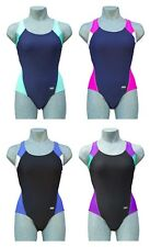 CHEX Fitness Cuba Ladies Swimming Costume Swim Suit Racer Strapped Back Lycra