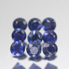 1.4mm Lot 3,5,10,20 pcs Heated only! Round Calibrated Natural Blue SAPPHIRE