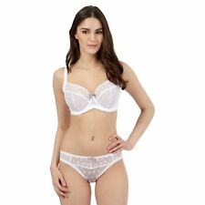 Gorgeous Dd+ White Lace Underwired Non-Padded Balcony Bra From Debenhams