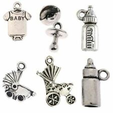 Tibetan silver beads charms fit bracelets DIY jewelry making 10pcs