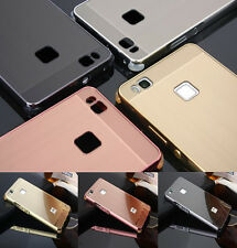 Shockproof Aluminum Metal Case Brushed Back Cover For Huawei Ascend P9 P10 Lite