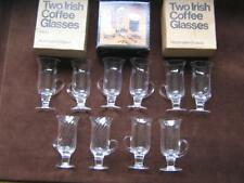 2 Irish coffee glasses  DARTINGTON  CRYSTAL 5 pairs for sale  Buy more, pay less
