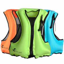 3 color Life Jacket Inflatable Snorkeling Vest Zip Adult Swimming Fishing Jacket