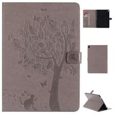 NEW Ultra Thin Leather Cover Stand Case Skin For Apple Samsung Tablets Gray