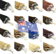 Micro Ring Bead Loop Tip Indian Remy Human Hair Extensions Straight 7A 0.5g/s AU