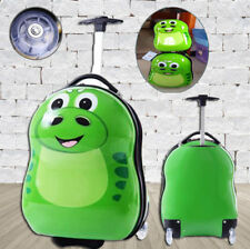 Children Kids Holiday Travel Hard Shell Suitcase Animal Luggage Trolley Bags NEW