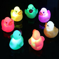 Rubber Baby Bath Time Fun Kids Toys Changing Color Duck Flashing LED Light Lot