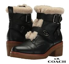 COACH Preston Women's Ankle Boots Leather Booties Casual Designer Comfort NIB