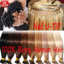 1.0g 16-26Inch Fusion Pre bonded U/Nail Keratin Tip Remy Human Hair Extensions