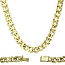 Cuban Link Chain Necklace 18k Gold Plated Miami Cuban Stainless Steel