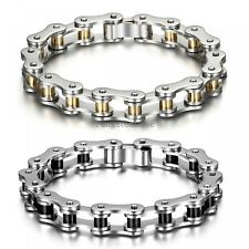 Men Bracelets Punk Stainless Steel Bangles Bicycle Motorcycle Chains Accessory