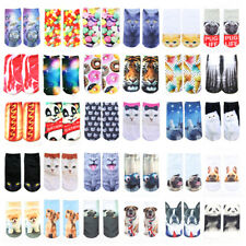 Creative Pattern For Socks 3D Printed Girls Women Low Cut Ankle Socks 1 Pair