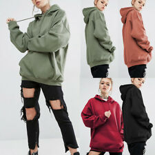 Womens Hoodies Hooded Long Sleeve Oversize Jumper Casual Loose Tops Sweatshirt