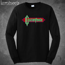 Castlevania NES Retro Video Game Long Sleeve Black T-Shirt Size S to 3XL