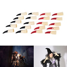 10X Zombie Fake Fingers Witch Nail Set Cover Halloween Prop Party Decoration wg