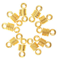 10pcs Spiral Twist Cuff Dreadlock Beads Braiding Hair Clips Adjustable
