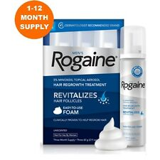 ROGAINE MINOXIDIL FOAM 5% HAIR LOSS REGROWTH: 1 - 12 MONTH SUPPLY