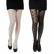 Stylish Women Girl Sexy Big Polka Dots Pantyhose Stocking Tights Black/White HOT