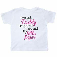 Inktastic I've Got Daddy Wrapped Around My Little Finger Toddler T-Shirt Baby