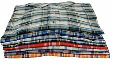Men's Classic Plaid Shirts With Pocket | Long Sleeve Button Down | Lot of 6