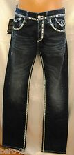 Cipo Baxx c79502 Jeans Trousers Blue White Top Stitching W29 W30 L34