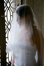 1T White/ivory lace veil wedding veils bridal veil