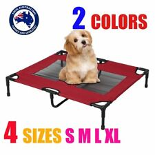 Heavy Duty Pet Dog Bed Trampoline Hammock Bed Frame Cat Puppy S M L XL RED/BLUE: