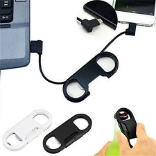 3in1 Bottle Opener Keychain Data Cable USB Charging Cord for Smart Phone O3N
