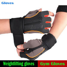 Weight Lifting Gloves Gym Leather Fitness Training Body Building Dam Workout