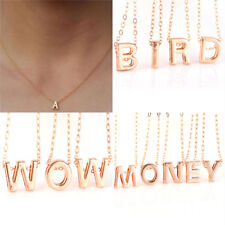 Fad Women Gold Plated Initial Alphabet Letter Pendant Chain Necklace Jewelry*v*