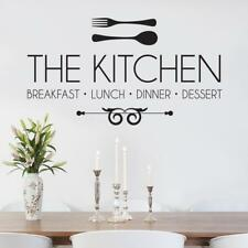 KITCHEN Breakfast Luch Dinner Decal WALL STICKER Lettering Decor Art Quote SQ87