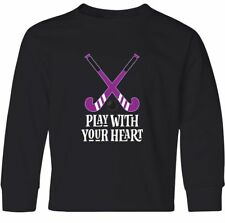 Inktastic Field Hockey Player Coach Team Gift Youth Long Sleeve T-Shirt Sports