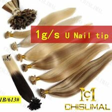 7A 1.0G 16-26Inch Pre bonded U/Nail Tip Keratin 100% Remy Human Hair Extensions