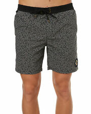 New Globe Men's Distance Mens Beach Short Cotton Polyester Elastane Black