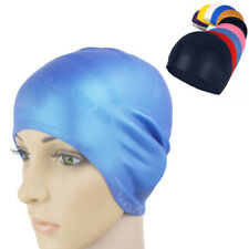 Swimming Cap Swim Cup Silicone Stretch Adults Long Hair Hat With Ear WaterProof