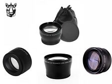 NZ24 46mm Supplement 2x Teleconverter Telephoto TELE Lens For Camera Camcorder