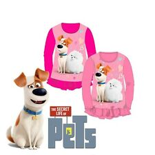 The secret life of pets Girls T shirt 2-8 years pink long sleeve