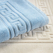 Set of 2 Bathroom Rugs Reversible 22x35 Plush Egyptian Cotton Luxury Bath Mat