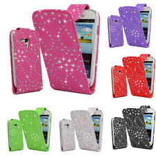 Samsung Galaxy Diamond Bling Sparkle Top Flip Case Cover Pouch For S3 Mini I8190
