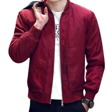 Men's Jackets Solid Fashion Coats Male Casual Slim Stand Collar Bomber Jacket