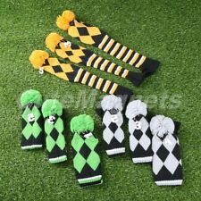 Set of 3 Hand Knitted Golf Club Headcover for Taylormade Driver 3 Wood & 5 Wood