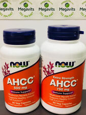 NOW Foods AHCC 500 mg OR 750 mg  60 Veg  Caps Size    ires 2020 ^ |  PrestoMall - Nutrition & Vitamin