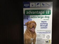 BAYER ADVANTAGE  II FLEA CONTROL FOR XL DOGS OVER 55 LBS- 8 PACK 2- 4 MONTHS