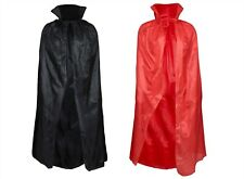 HALLOWEEN CAPE VAMPIRE BLACK OR RED LONG DRACULA FANCY DRESS COSTUME PARTY