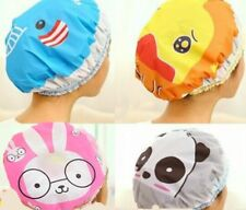 Children Women Bathing Cap Hat Cute Cartoon Animal Print Elastic Waterproof Cap