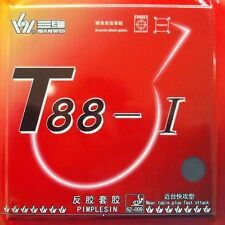 Sanwei T88-I Pips in Table Tennis Rubber With Sponge