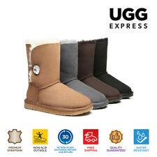 UGG Boots - Ladies Water Resistant Short Button with Crystal - Clearance Sale