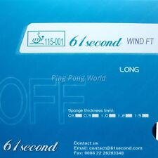 61second wind FT OFF Long Pips Out Table Tennis Rubber OX No sponge