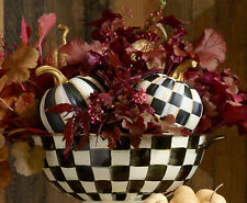 MacKenzie-Childs Mini Resin Pumpkin-Choice Of Courtly Stripe® Or Courtly Check®