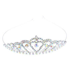 Crystal Rhinestone Princess Crown Tiara Headband Bridal Wedding Jewelry Hairband